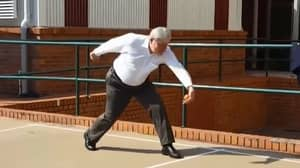 Former PM Kevin07 Tackles The Handball Court To Show Kids Who's Boss