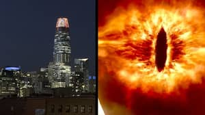 Tower In San Francisco Becomes The 'Eye Of Sauron' On Halloween