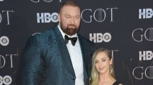'The Mountain' Towers Over His Wife At Game Of Thrones Premiere