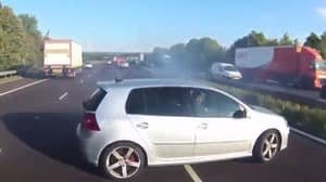 Dashcam Footage Captures Bus Driver's Near Miss With Spinning Car
