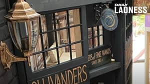 Dad Creates Mini Diagon Alley For Daughter In Secret Space Behind Her Wardrobe