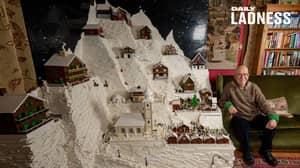 Couple Spent Six Weeks Creating Festive Lego Display With 400,000 Bricks