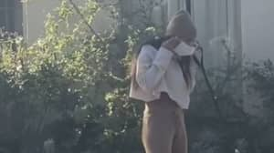 Mia Khalifa 'Caught' Picking Up Poo With Mask Before Putting It Back On