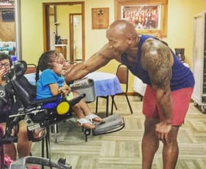The Rock Took Time Out Of His Busy Schedule To Spend A Day With Special-Needs Fans