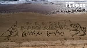 Giant Christmas Card Message Appears On Australian Beach