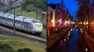 The First Eurostar Train To Amsterdam Left London This Morning