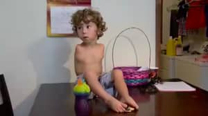 A Restaurant Has Banned A Toddler With No Arms For Eating With His Feet