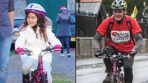 Dad Is Cycling 200 Miles On Late Daughter's Little Pink Bike For Charity