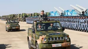 China Shows Off Strength Of Military Forces