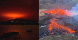 Iceland Volcano Erupts For First Time In 800 Years As Red Glow Skies Are Seen For Miles