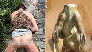 Police Hunting Woman Who Performed Public Sex Act On Model Dinosaur