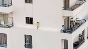 Shocking Video Shows Toddler Climbing Out Of A Hotel Window And Walking Across Ledge