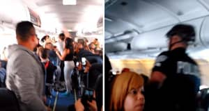 WATCH: Drunk Passengers Beat Each Other Up During In-Flight Fight Over Loud Speakers