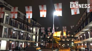 Neighbours Cover Entire Estate In St George Flags For Euro 2020