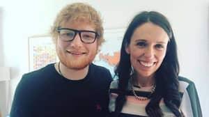 Ed Sheeran Offers To Perform At Jacinda Ardern's Wedding