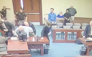 Man On Trial Pulls Out Knife And Attempts To Stab Prosecutor