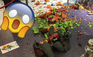 Savage Kid Destroys $15,000 Lego Structure Because He's Actually Satan