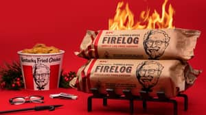 You Can Now Get A KFC 11 Herbs And Spices Firelog