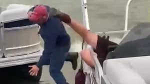 Man's Boat Proposal Goes Wrong As Bride Speeds Off And He Falls In The Water