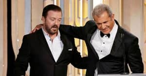 Wasted Ricky Gervais Asked Mel Gibson A Question Too Grim For The Golden Globes