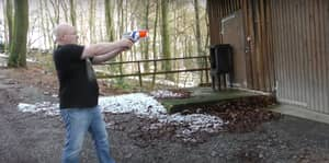 Guy Takes Nerf Gun And Turns It Into A Dangerous Weapon