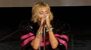 Miley Cyrus Breaks Down During Wrecking Ball Performance At Super Bowl Concert