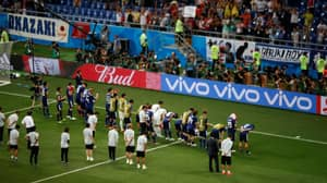 Japan Players Bow To Fans And Clean Changing Rooms