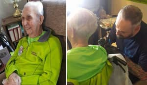 104-Year-Old Great Grandad Becomes Oldest Person Ever To Get A Tattoo