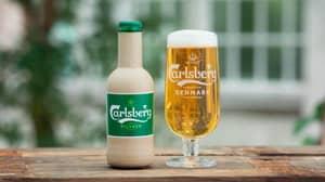 Carlsberg Unveils Paper Bottles To Help Reduce Its Carbon Footprint