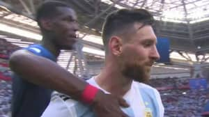 Paul Pogba's Gesture To Lionel Messi At Full Time Was Classy