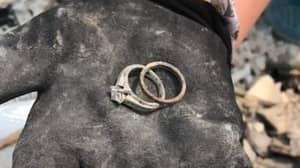 Couple Find Wedding Rings In Ashes Of Their Home After Wildfires Burn It To The Ground