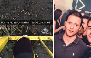 Lad Snapchats Entire Rescue Operation After Getting Knee Caught In Fence