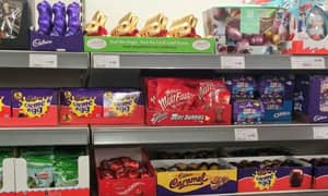 Easter Chocolate In The Shops Straight After Christmas