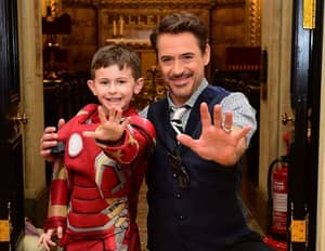 Robert Downey Jr Visits 'Iron Man' Fan At Great Ormond St. Hospital