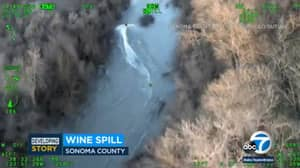Nearly 100,000 Gallons Of Wine Spills Into California River After Tank Leaks