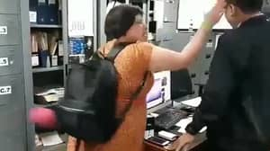 British Tourist Who Overstayed Her Visa Is Filmed Slapping Immigration Officer