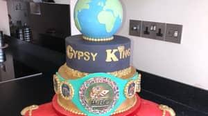 Tyson Fury's Wife Surprises Him With Massive WBC Title Celebration Cake