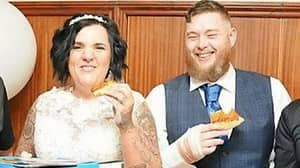 Couple Opt For Huge £350 Domino's Pizza Buffet For Their Wedding Day Meal