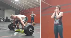 Crossfit Guy Almost Pops His Shoulder Blades Out In Horrendous Lifting Fail