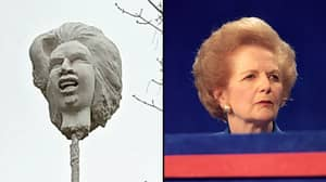 Artist Puts Magaret Thatcher's Severed Head On Spike In Her Home Town