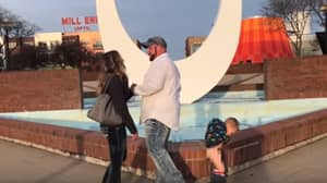 Little Kid Pees While Mum Receives Romantic Marriage Proposal