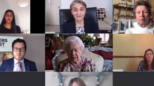 The Queen Takes Part In First Ever Public Video Call To Praise Carers