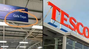 'Girls Toys' Sign In Tesco Sparks Furious Sexism Debate
