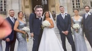 Woman Pranks Husband By Replacing Him With Jack Grealish On Wedding Photos
