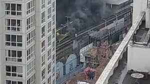Huge Clouds Of Smoke Rise Above Station As Fire Breaks Out In Elephant And Castle