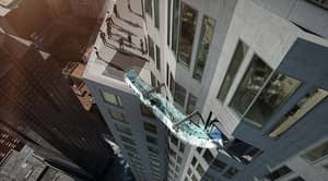Glass Slide Installed In L.A. Skyscraper That's 1,000 Feet Off The Ground