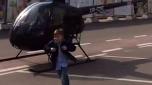 Little Boy Dropped Off For School In A Helicopter For Some Reason