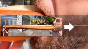 Man Uses Panoramic Mode To Create Ingenious Hot Dog Snap