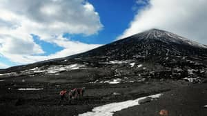 Man Stranded Near Crater Of Eurasia's Highest Active Volcano With Rescuers Unable To Help