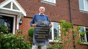 Lonely Pensioner Puts Up Poster Appealing For Friends Following His Wife's Death